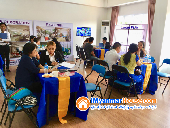 Sales Event of Collective Land Ownership Available The Leaf Residence Condo in Dhama Thuka Kyaung Street Successfully Held
